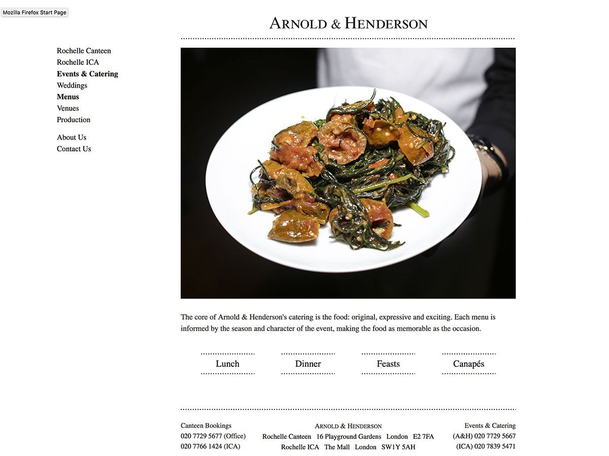 Sample menu PDFs