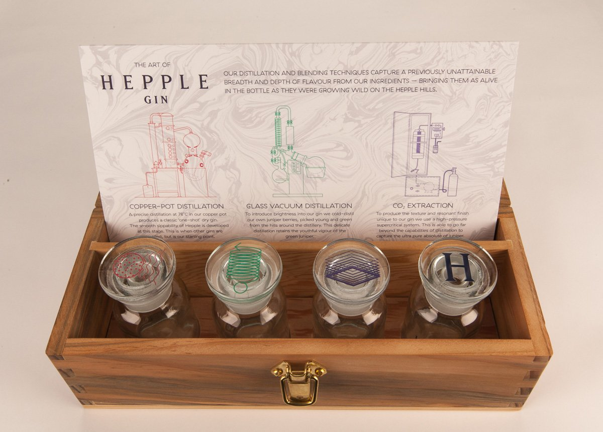 Hepple Gin tasting kit